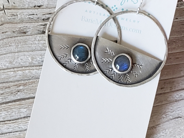 Blur labradorite earrings