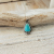 Turquoise and sterling silver necklade