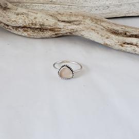 peach seaglass ring
