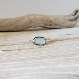 Light blue seaglass ring