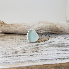 seafoam seaglass ring