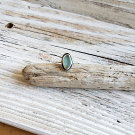 Seafoam blue seaglass ring