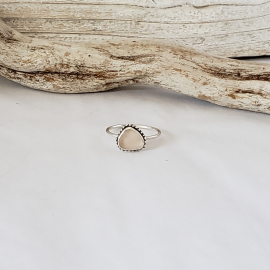 PINK SEAGLASS RING