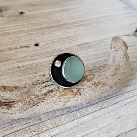 English seaglass aqua ring
