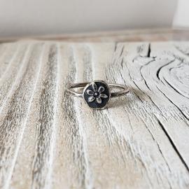 stamped flower ring