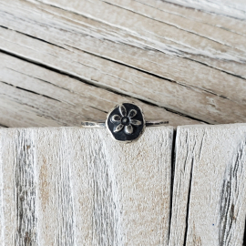 Whimsical organic sterling silver ring