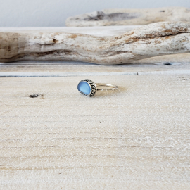 cornflower blue seaglass
