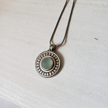 Seafoam Seaglass Necklace