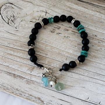 Onyx &Turquoise Bracelet