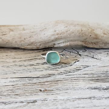 Bluegreen Seaglass Ring