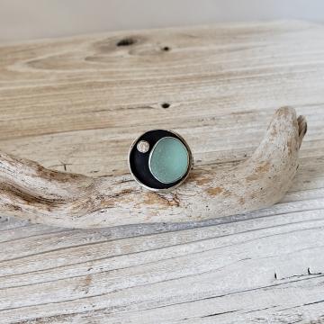 Aqua Seaglass Ring