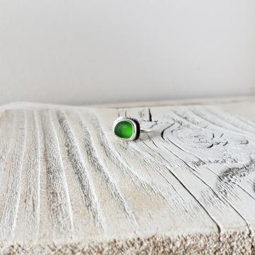 Emerald Green Seaglass Ring