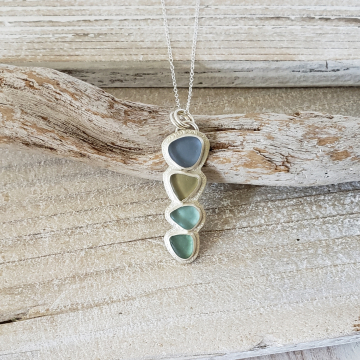 Seaglass Blues Necklace